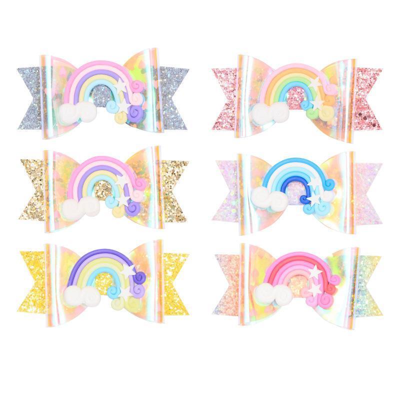 Glitter Felt Clips hiar Lovely Girls arc-épingles à cheveux 10.5cm épingles à cheveux Mignon Enfants Big Bowknots Accessoires cheveux de gros 18pcs