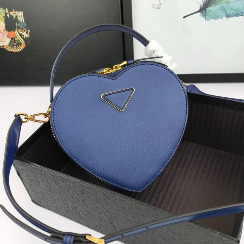 2020 Art und Weise Liebe Form Tasche Leder Material Handtasche Zwei-Wege-Reißverschluss-Design importiert Leder Damen Handtasche Schultertasche formale Gelegenheit