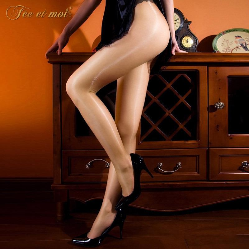 calze di seta sexy delle donne zYx1w jU7GL MoMu stockingspantyhose seta stockingscored trasparente olio flash luminoso aperto collant calza sexy