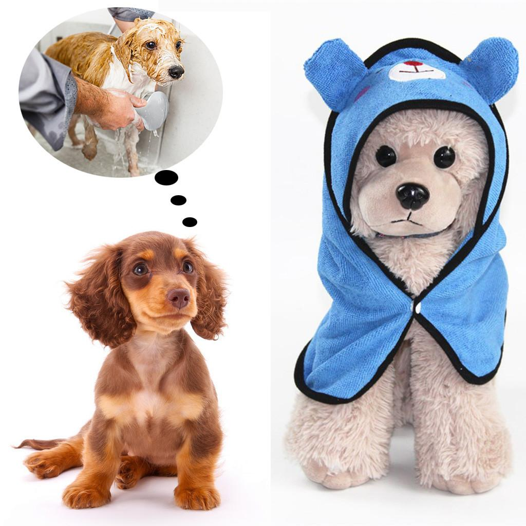 Cute Pet Dog Towel Pet Towel For Dog Cat Hoodies Soft Drying Bath Super Absorbent Bathrobes Pet Drying Towel Cleaning Necessary