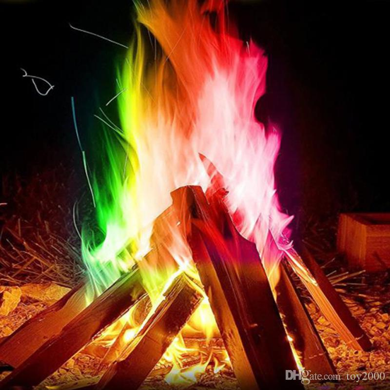 10/15/25/30g Mystical Fire Magic Tricks Colorful Flames Outdoor Bonfire Game Flame Powder Professional Magicians Pyrotechnics Toy