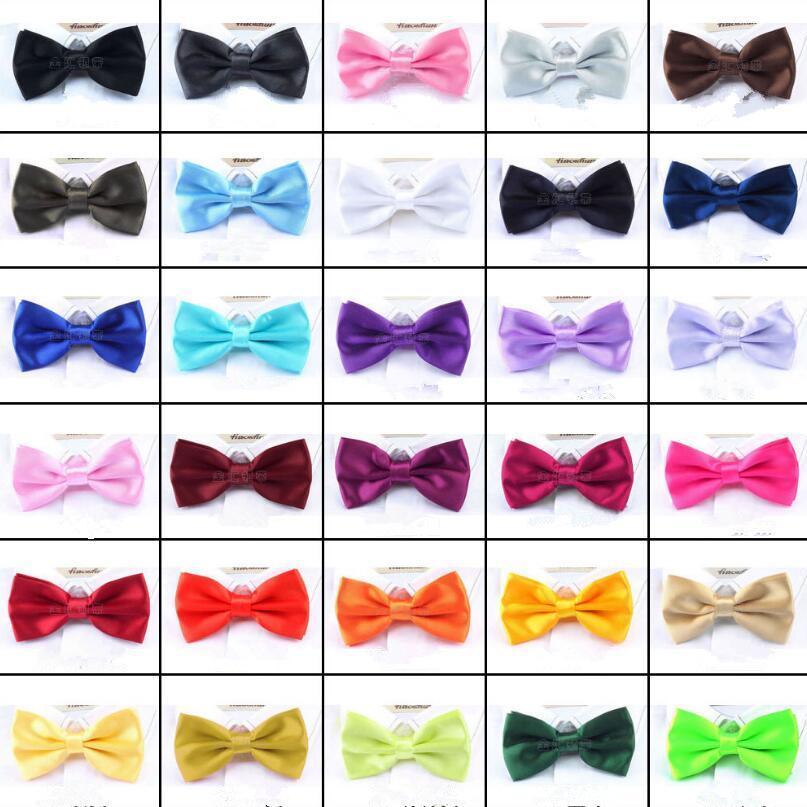 Erkekler Katı Bow Kravatlar Kelebek Gentleman Düğün 30 Renkler Ayarlanabilir Düğün Balo boe kravat FFA061 500pcs