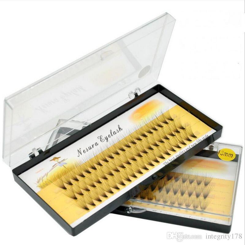 Maquillaje DHL 60 piezas Maquillaje profesional Grupo individual Pestañas postizas Injerto Pestañas postizas falsas 6 mm / 8 mm / 9 mm / 10 mm / 11 mm / 12 mm / 13 mm / 14 mm / 15 mm