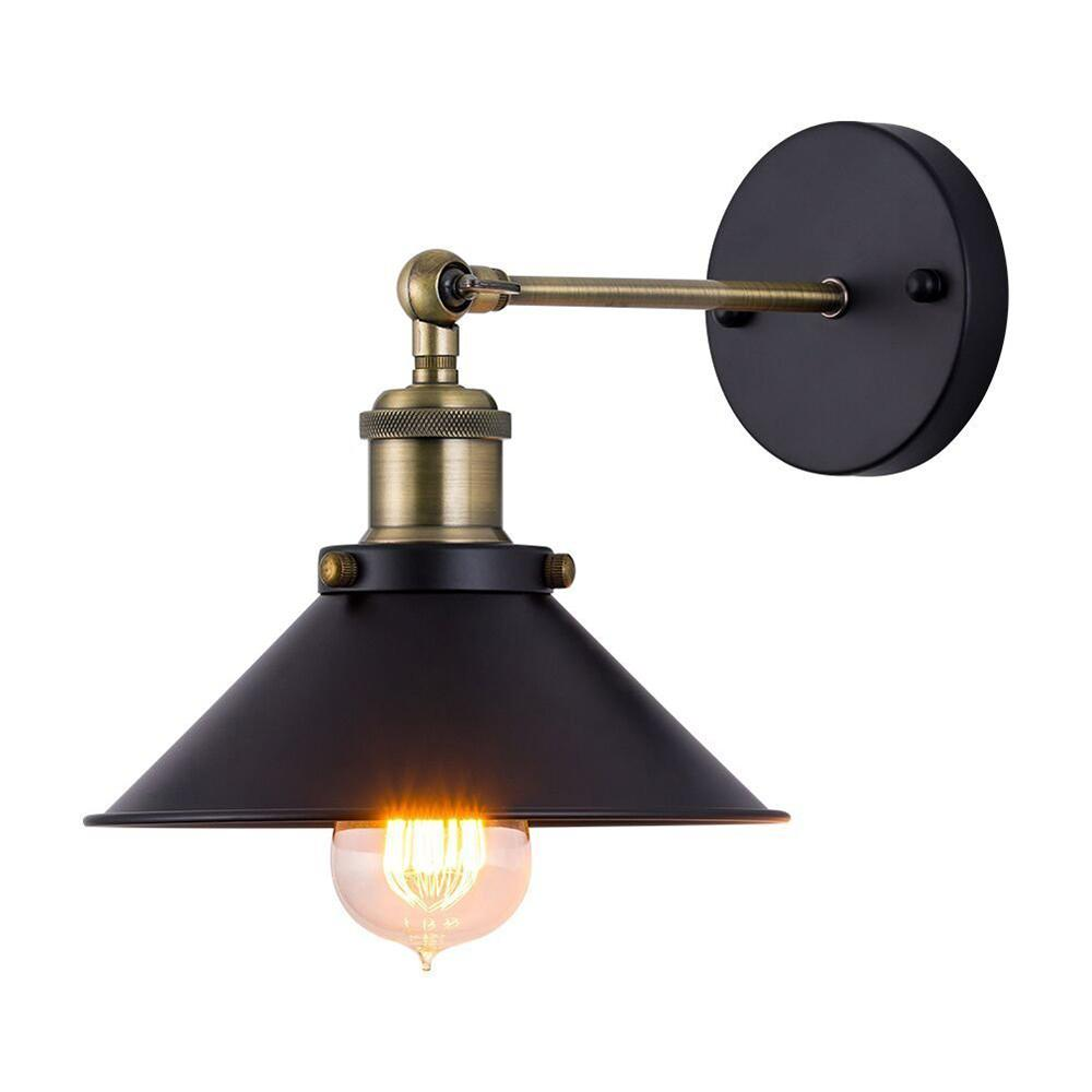 Cuarto de baño retro E27 lámpara de pared rústica Loft pared aplique-Industrial LED Bar Restaurante de pared de luz con brazo giratorio accesorio de iluminación I292