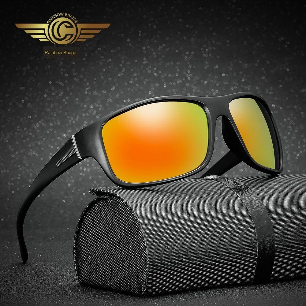 Arcobaleno Outdoor Sports polarizzato gli occhiali da sole all'aperto SUNBRIDGE 18 YQehO uomini colorati di guida di sole delle donne sole sport dei