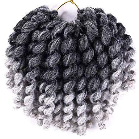 umpy Wand Curl Twist Synthetic Crochet Braids 8 inch Jamaican Bounce Crochet Braiding Hair for Black Women