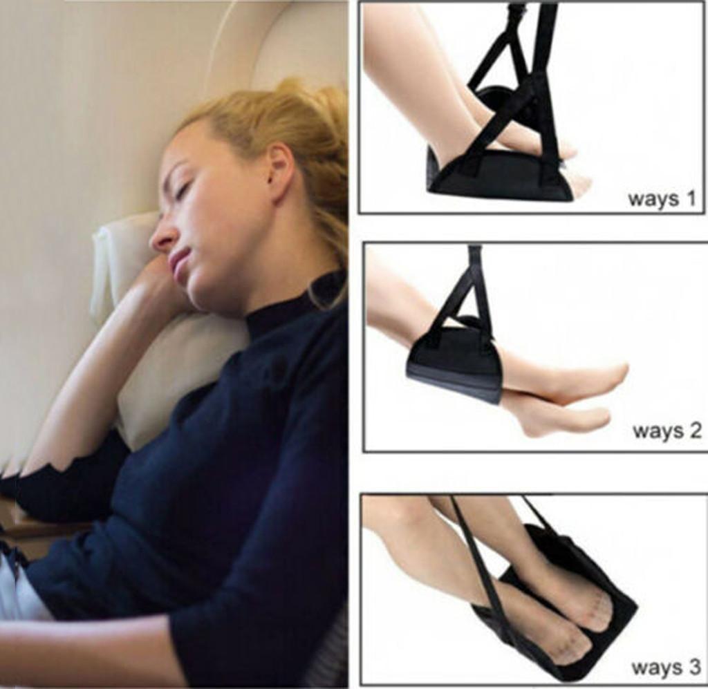 Cómoda percha Viajes por Avión reposapiés hamaca hecha con espuma de memoria pie apoyado hamaca para office3.74 viajes
