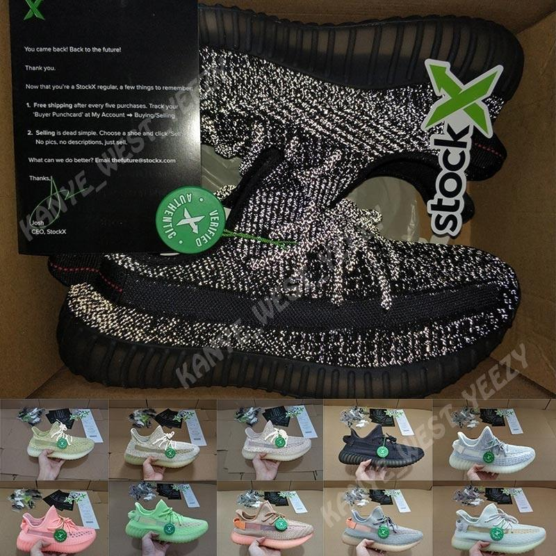 Kanye West Antlia Synth Lundmark Citrin véritable forme Hyperspace Clay Chaussures de course statiques Hommes réfléchissantes Baskets femme Baskets Taille 13