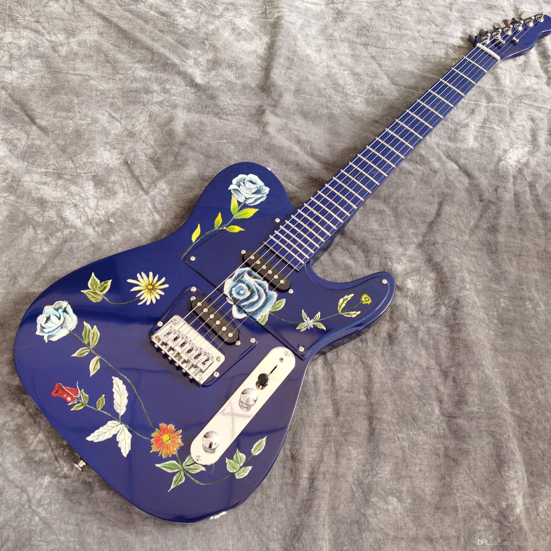 Yeni stil. elektrikli gitarın, kaliteli manyetikler, el işi 6 sokması fingerboard.real fotoğrafları guitarra.maple