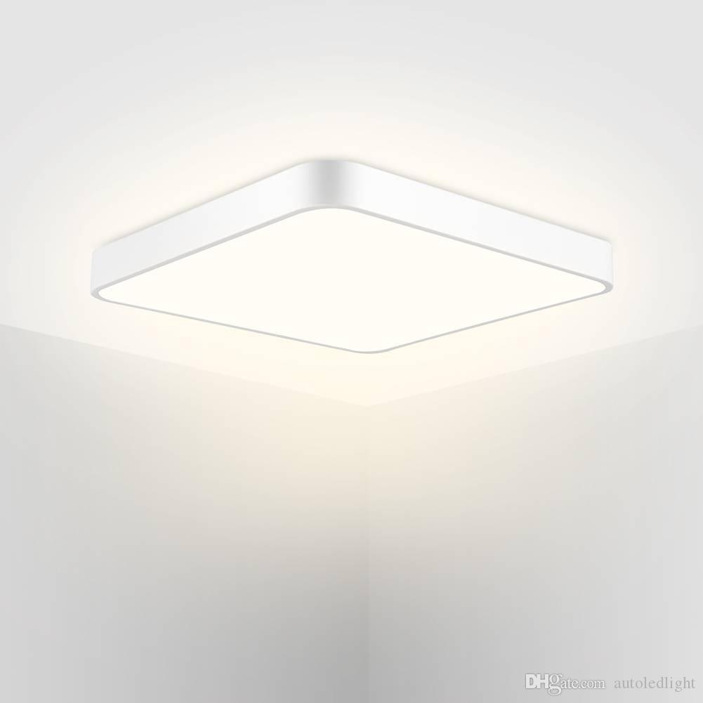 Squre LED Ceiling Lights 1Pcs 110V 500mm 36W LED Thin Ceiling Lamp Square Warm White Light