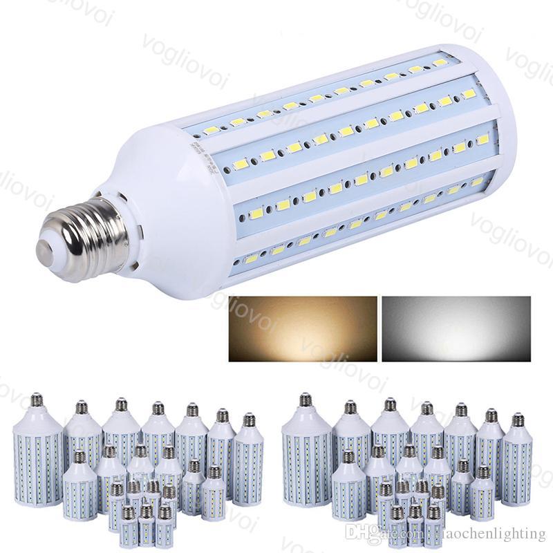 LED 전구 E27 SMD5730 옥수수 조명 AC85-265V 20W 30W 40W 60W 360 학위 실내 홈 테이블 벽 장식 빛 DHL