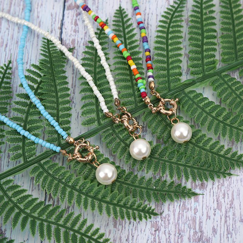 Böhmische Halskette für Frauen simulierte Perlenketten Mode Chic Collares Femme Schmuck BohoTrendy Bib Collier