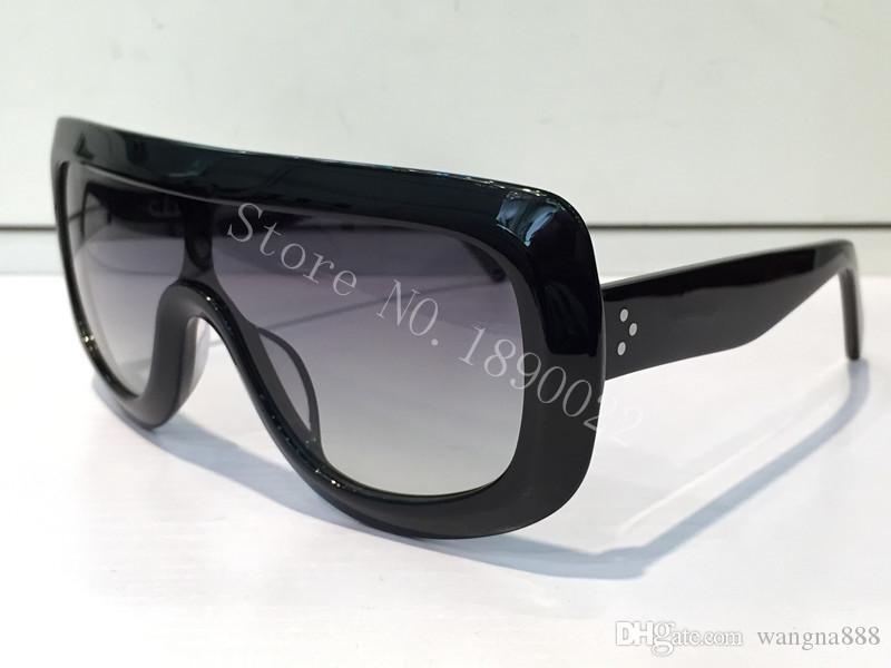 nuove donne di lusso di marca del progettista occhiali da sole CE41377 Audrey occhiali da sole di design avvolgente modello unisex grande cornice leopardo telaio doppio colore