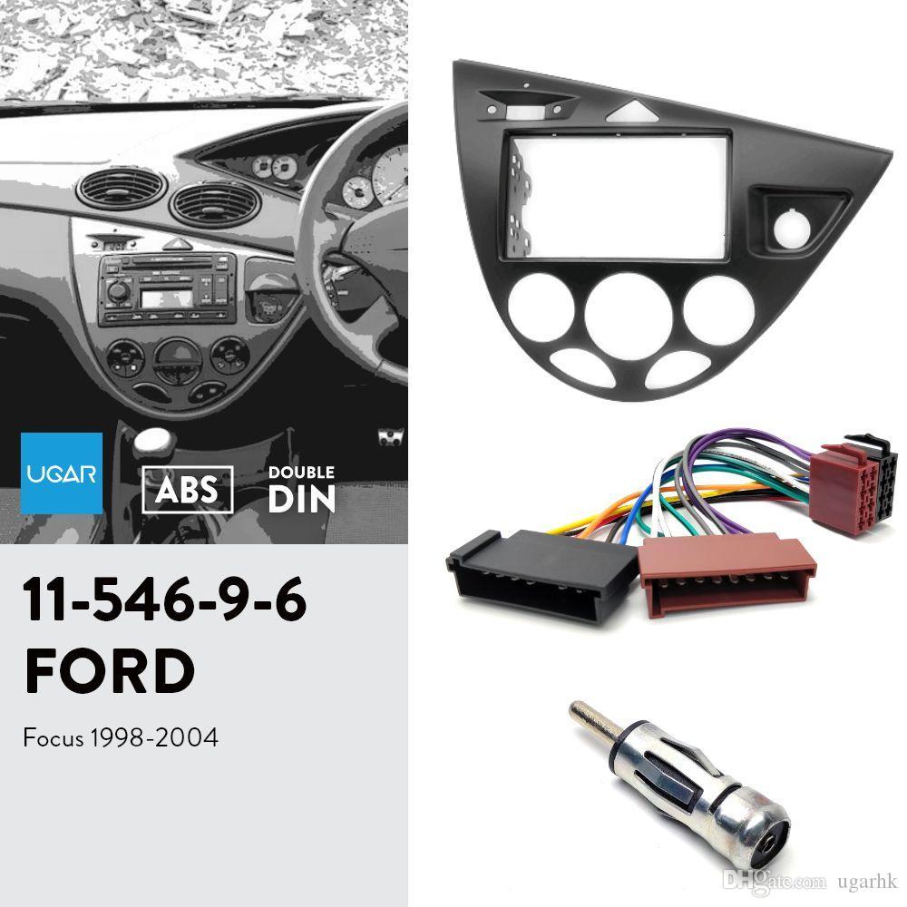 UGAR 11-546 Fascia Kit / Frame Fascia + ISO Harness + Adaptador de Antena para Ford Focus 1998-2004