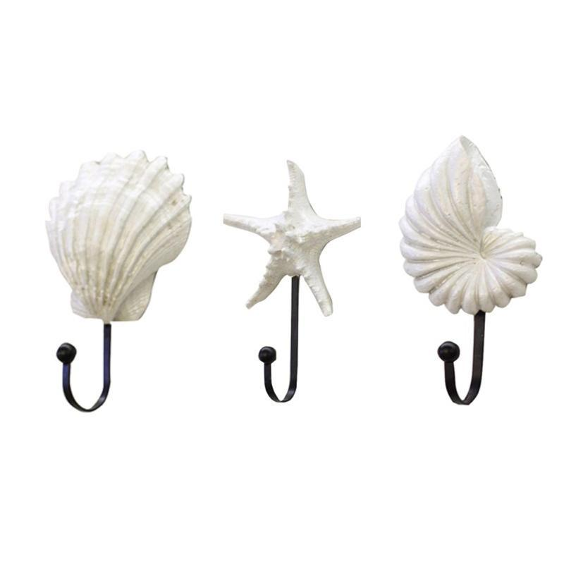 Sea Beach Storage Clothes Rack Wall Hanger Multifunctional Home Decor Hook Conch Practical Ocean Clothing