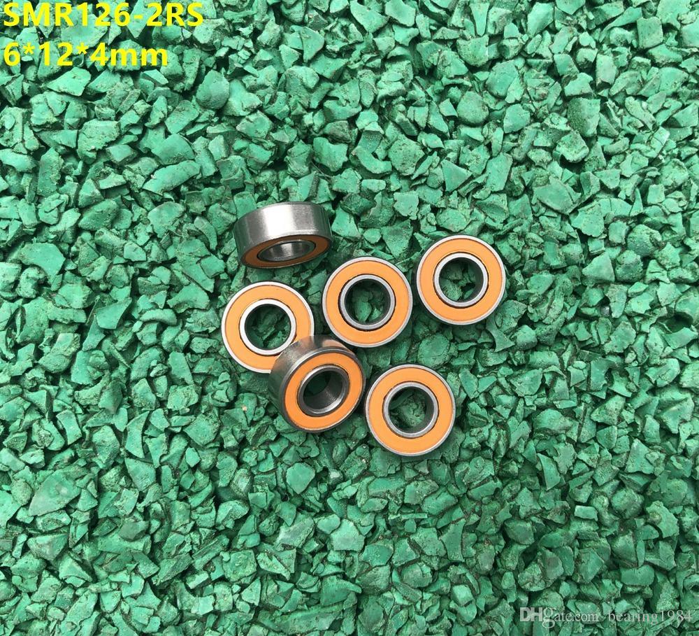 10 개 / 몫 SMR126-2RS SMR126 2RS RS 6x12x4 mm ABEC-7 스테인레스 스틸 하이브리드 si3n4 세라믹 볼 베어링 낚시 릴 베어링 6 * 12 * 4 미리 메터