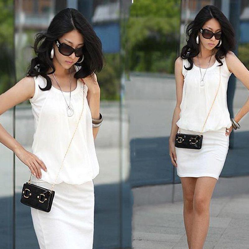 Donne calde di vendita Abbigliamento Moda 2014 Summer Dress Plus Size Donne Abbigliamento casual indossare abiti Ufficio donne lavorano abiti in chiffon