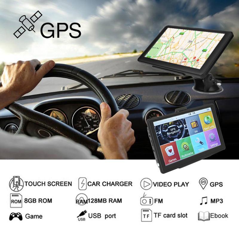"8GB 7"" 800MHZ GPS Navigator Universal TFT LCD Truck Navigator Car GPS Navigation Automobile"