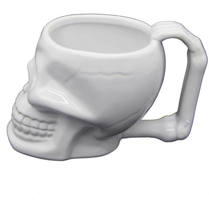 sap Gerilim Hayalet Kafa Seramik Sevimli Süt Kahve Kupalar Beyaz Çay Kupası Drinkware Noel Hediye GGA2603 ile Seramik Kafatası Bardaklar