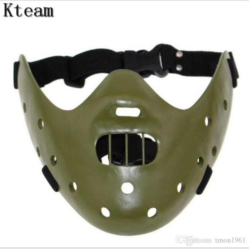 resin Silence of the Lambs Mask Hannibal Lecter black party Costume prop replica