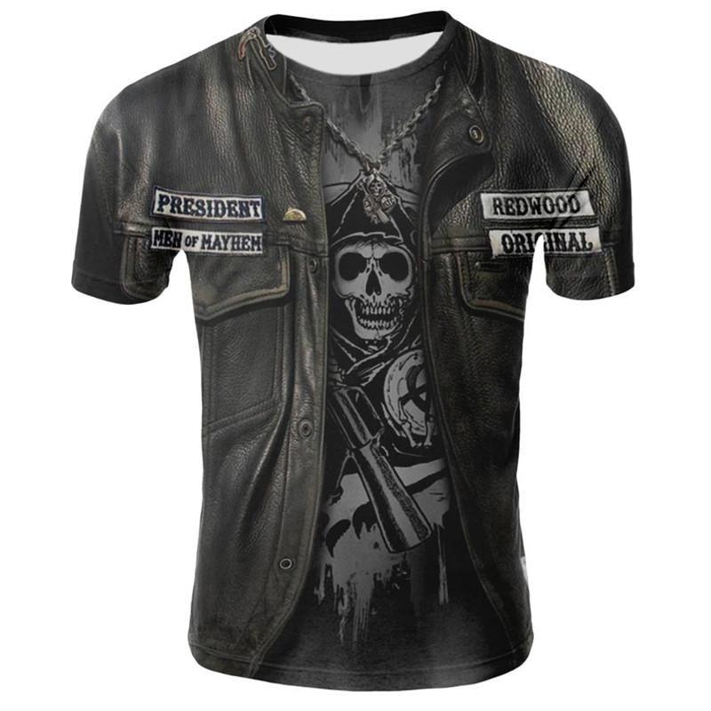 2019 новый дизайн футболка мужчины/женщины heavy metal grim Reaper череп 3D печатные футболки повседневная Harajuku стиль футболка уличная одежда топы