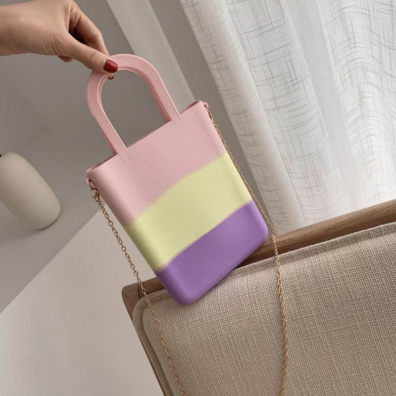 Силикагель сумочка сумка для женщин конфеты панелями цвет письмо мода сумка желе небольшой тотализатор летний пляж кошелек