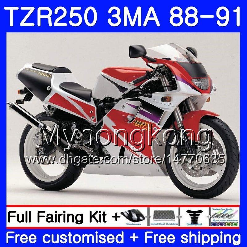 키트 YAMAHA TZR250RR 재고품 적색 흰색 TZR-250 TZR 250 88 89 90 91 본체 244HM.48 TZR250 RS RR YPVS 3MA TZR250 1988 1989 1990 1991 페어링