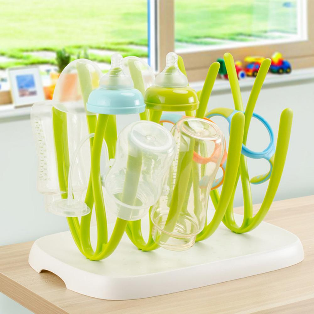 Baby Bottle Drying Rack Hanging Feeding Bottle Cup Holder Infant Nipple Kitchen Drainer Kid Bottle Drainer Dryer Shelf