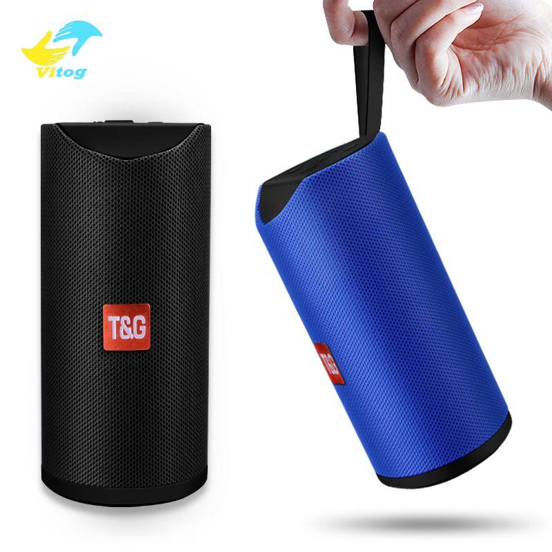 Vitog TG113 wireless Bluetooth Speaker impermeável ao ar livre portátil Coluna sem fio Alto-falante Suporte Box TF Radio Aux FM Input