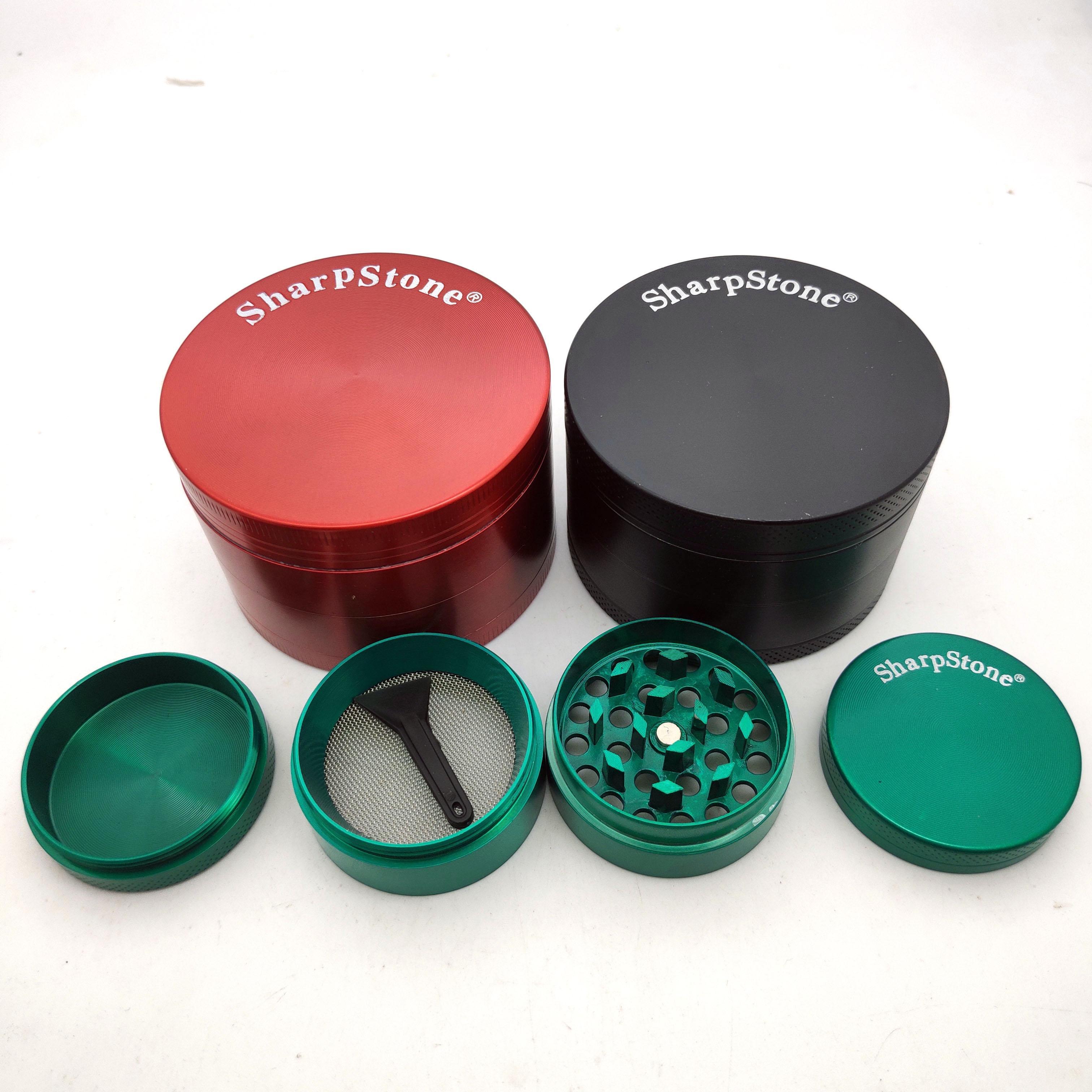 Sharpstone Herb Grinder di metallo in lega di zinco Tabacco erbe Grinders 4 strati 63 millimetri diametro per fumare 20pcs DHL libero