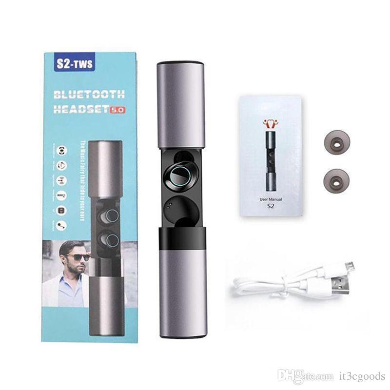 S2 Mini TWS наушники Беспроводные водонепроницаемые Bluetooth 5.0 4.2 гарнитура магнитные наушники с микрофоном зарядная коробка наушники