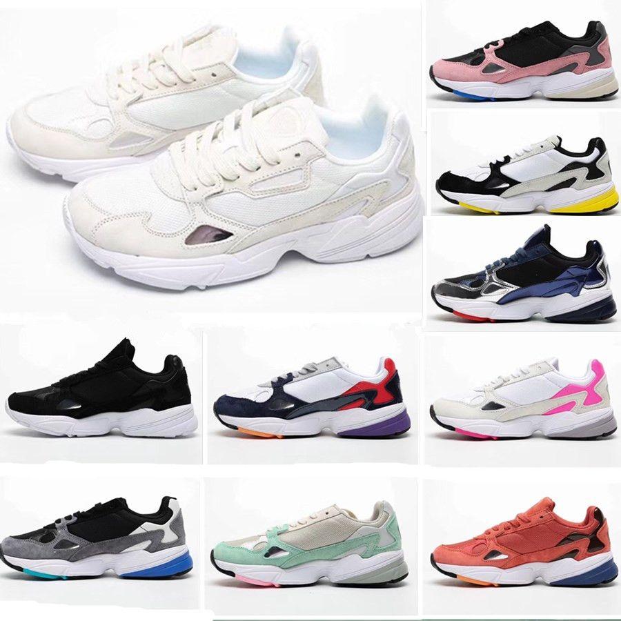 2019 Falcon W Zapatos para correr para mujeres Hombres Zapatos de alta calidad Falcon Zapatillas de diseñador de lujo Originales para correr al aire libre US5-11
