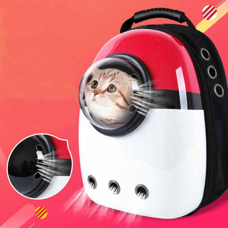 Pet Dogs Cat Double Shoulder Bag Travel Bag Cave for Cat Bag Space Capsule Breathable Small Pet Handbag Cat-carrying Backpack D19011201