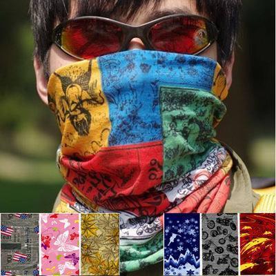 Sports de plein air Gothic Headscarf Variété d'été Banque Cyclisme Pêche Sunscreen Masque Visage Foulard Col de l'homme Équitation Homme Masque Fon7041