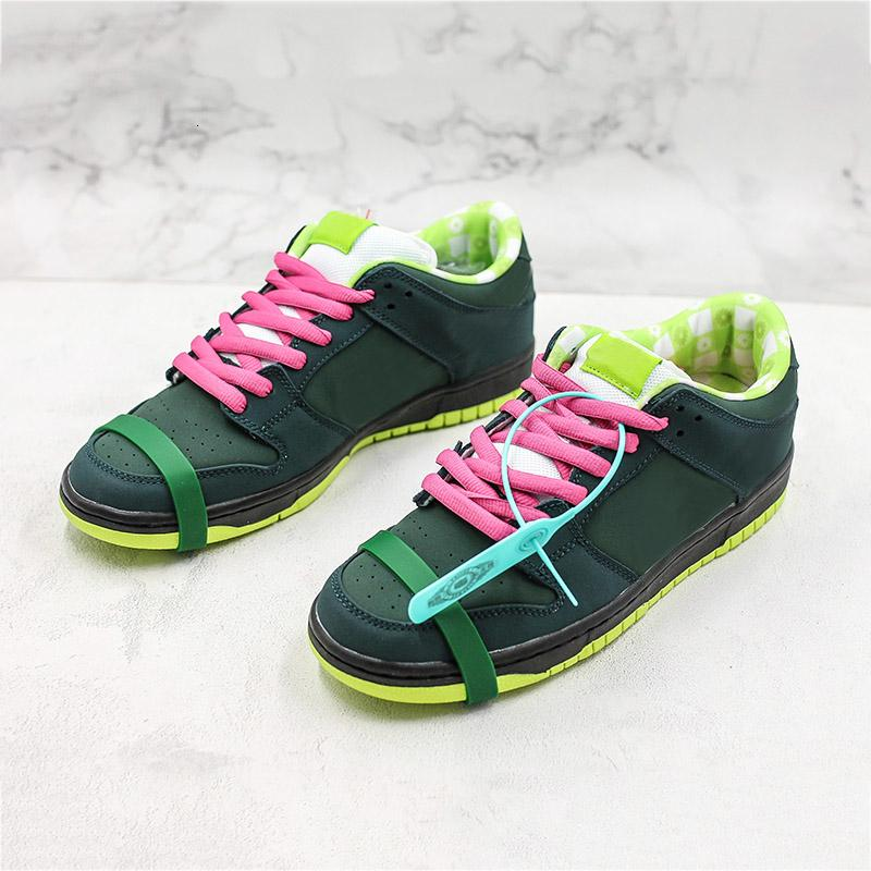 Kutusu ile Kavramlar X Sb Dunk Düşük Pro Qs Cnpts Ayakkabı Koşu Erkek Moda Yeşil Istakoz Tasarımcı Sneakers