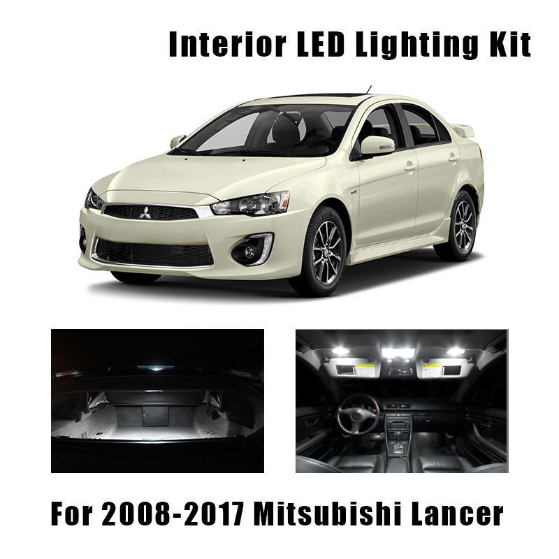 8 шт. Белый светодиодные лампы интерьер карта купол света комплект для Mitsubishi Lancer 2008-2015 2016 2017 багажник грузовой номерной знак лампы
