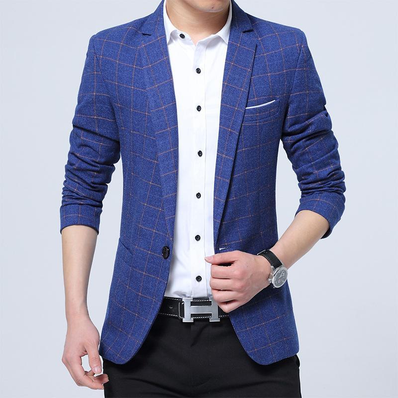 Homens roupas de primavera e manta pequeno de homens Outono terno dos homens terno coreano magros Negócios Casual Jacket Ocidental Top homens