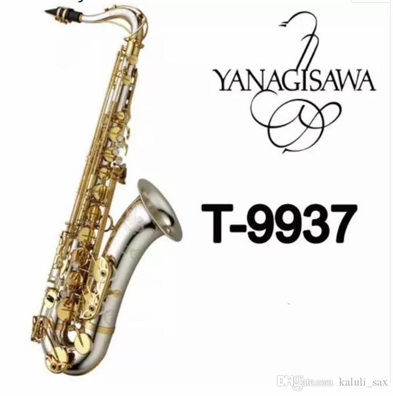 YANAGISAWA T-9937 Bb Sassofono tenore Chiave d'oro Sax Strumenti d'argento musicali con custodia Bocchino Livello professionale