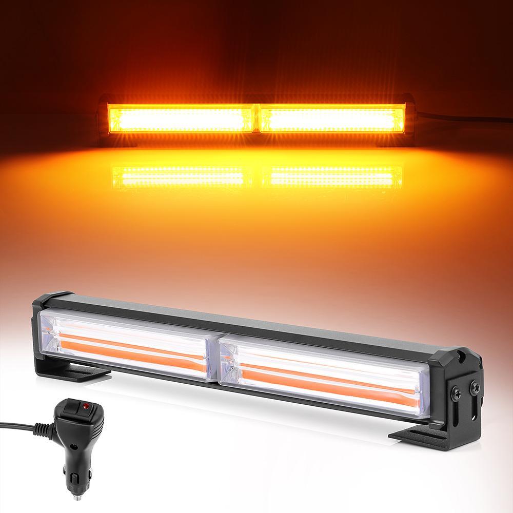 36 W LED Strobe Flaş Uyarı Işığı Amber LED COB 9 Modları Styling Araba Uyarı Işığı Acil Flaşör Strobe Lambası 12 V