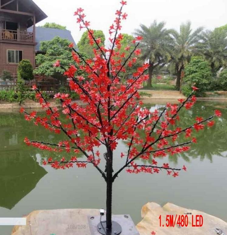 LED Cherry Blossom Tree Light 864pcs Светодиодные лампы 1.8м Высота 110 220VAC Семь цветов для варианта непромокаемый наружного применения