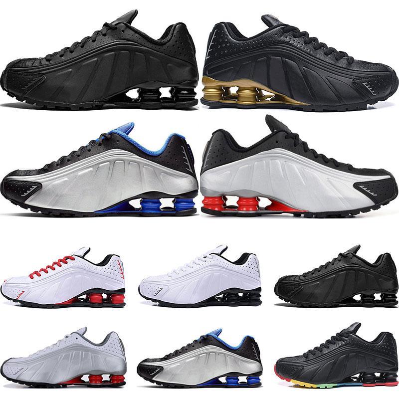 2019 diseñador de los deportes del Mens de los zapatos corrientes R4 Nz Negro Metálico Oro Negro triple de plata Negro Blanco Sport zapatillas de deporte 40-45 caliente