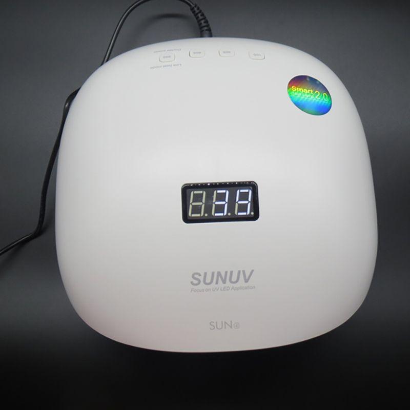 48W SunUV Secador de prego 365 + 405 nm UV dupla Led prego lâmpada