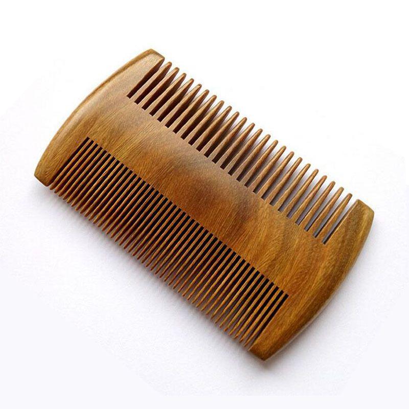 9.5CM * 5.5CM الطبيعية خشب الصندل جيب اللحية أمشاط الشعر للرجال - اليدوية الخشب الطبيعي مشط مع الكثيفة والأسنان متناثر