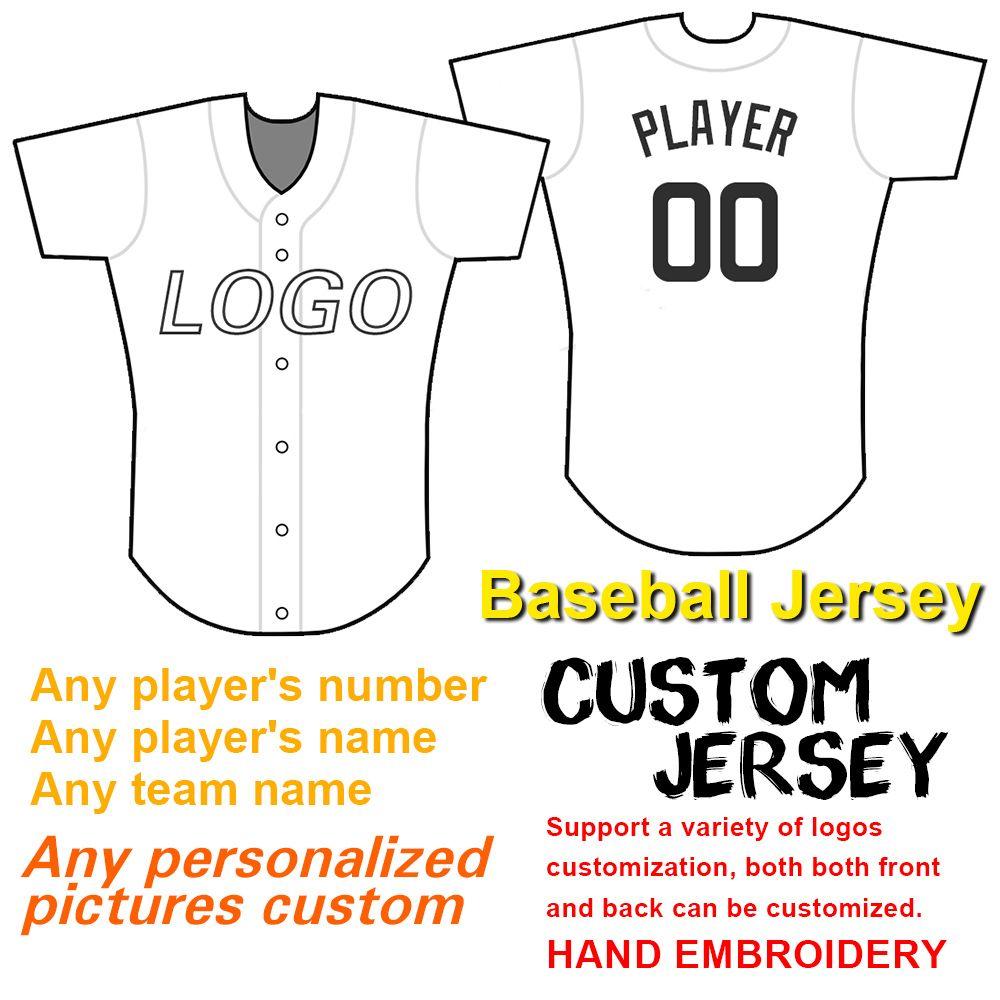 2020 donne della gioventù Uomini Custom baseball Jersey qualsiasi nome qualsiasi numero ricamo di tecnologia di alta qualità e poco costoso