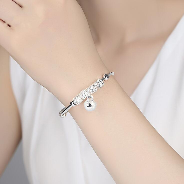 ATTRACTTO Silver Bell Bracelets&Bangles Christmas Gifts Bracelets For Women Handmade Jewelry Bracelet SBR190542