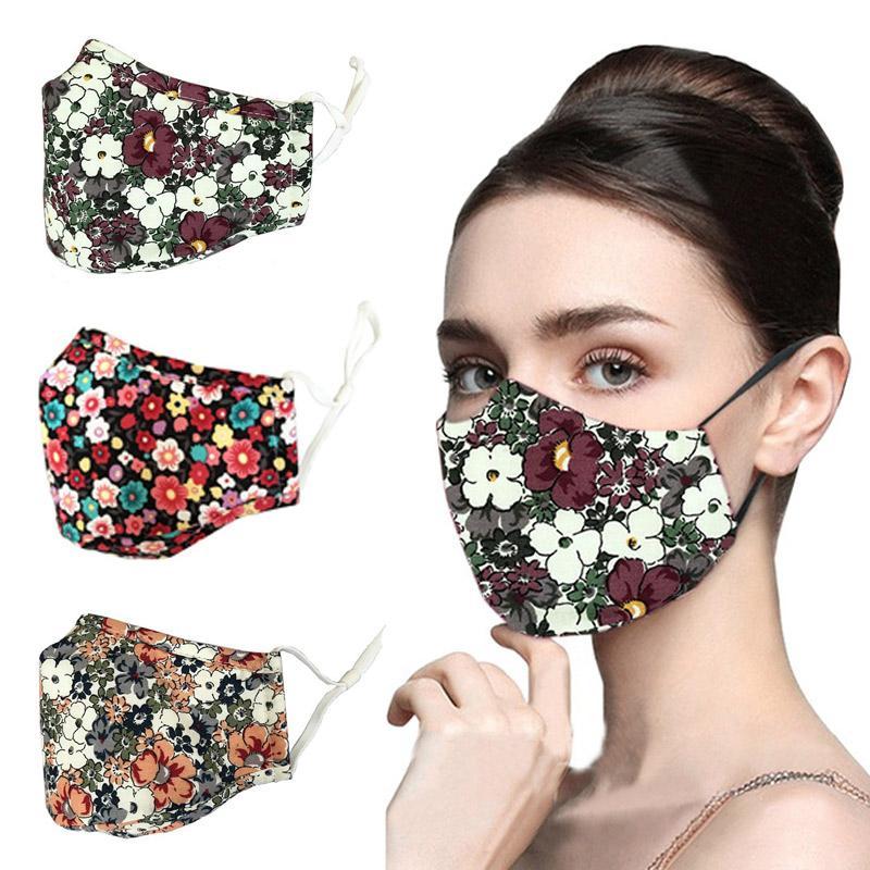 50pcs Designer Face Masque Mode Noir Masques réutilisables Anti-Brouillard et impression de poussière Facem masque à imprimer avec filtre Top Vente