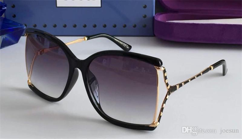 Gli ultimi occhiali da sole firmati modo caldo quadrato telaio cavo di alta qualità 0592 UV di protezione degli occhiali 400 lente