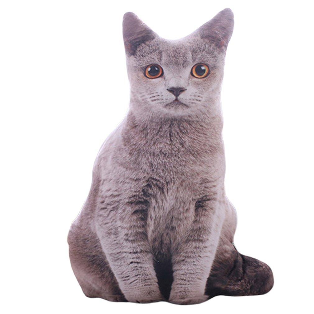 50CM 3D محاكاة القطيفة القط الوسائد لطيف القطة الناعمة الحيوانات المحنطة وسادة أريكة ديكور الكرتون محشوة للأطفال هدية للأطفال