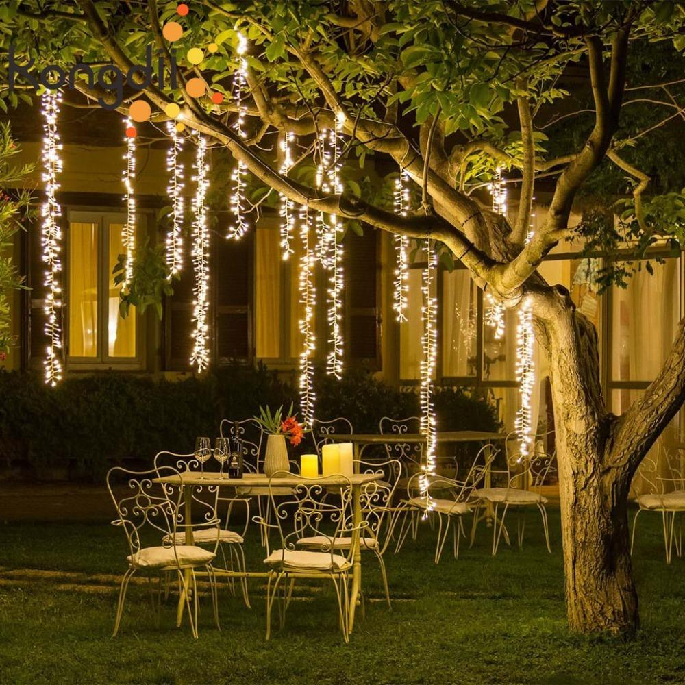 4mx1.5m connectable led festoon string fairy light garland Christmas light string tree outdoor garden party wedding decoration Y200603