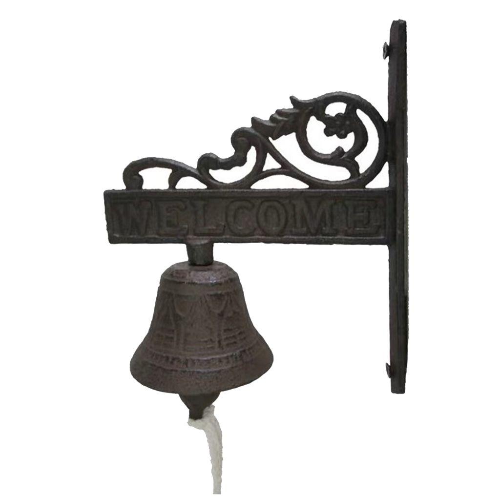 Picture of: 2020 Outdoor Dinner Bells Cast Iron Bracket Mounts Bell Indoor Outdoor Wall Decor From Zeyuantrading 19 65 Dhgate Com